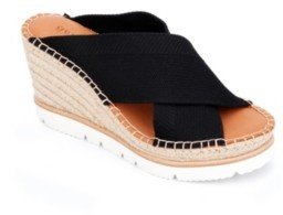 Gentle Souls by Kenneth Cole Elyssa X-Band Wedge Sandals Women's Shoes