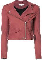 IRO cropped biker jacket - women - Lamb Skin/Polyester/Rayon - 38