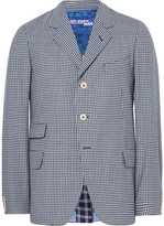 Junya Watanabe Blue Slim-fit Checked Wool Blazer