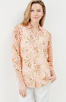 J. Jill Cotton & Silk Floral Shirt