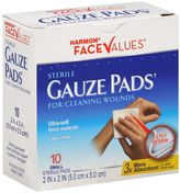 Harmon Face ValuesTM 10-Count 2-Inch x 2-Inch Sterile Gauze Pads