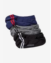 Express 3 pack no-show stripe socks