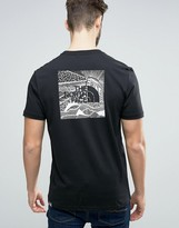 The North Face Redbox Celebration T-Shirt Back Print in Black