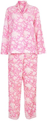 Nologo Chic Hand Printed Pj'S - Cotton - Hibiscus Pink