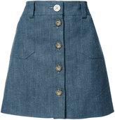 Ines De La Fressange - short a-line skirt - women - Cotton - 34