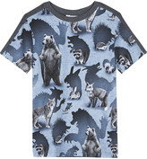Molo Rishi animal shadow print cotton T-shirt 4-14 years