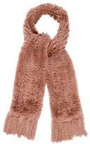 Joseph Fringe-Trimmed Fur Scarf