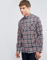 Bellfield Printed Check Shirt With Double Pocket