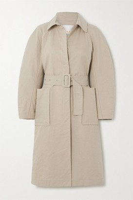 REMAIN Birger Christensen Elba Belted Cotton-blend Coat - Beige