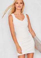 Missy Empire Rosalia White Open Back Bodycon Dress