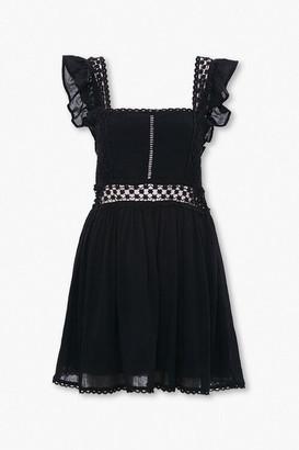 Forever 21 Crochet-Trim Fit Flare Dress