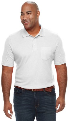 Croft & Barrow Big & Tall Classic-Fit Extra-Soft Interlock Pocket Polo