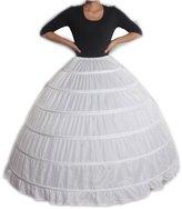 LuYan Women's Wedding Bridal 6-Hoop Ball Gown Crinoline Size 22