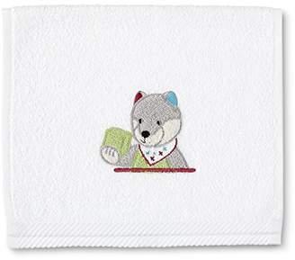 Sterntaler 7161402524 Wolf Children's Towel Wilbur White