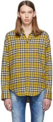 DSQUARED2 Yellow Plaid Easy Dean Shirt