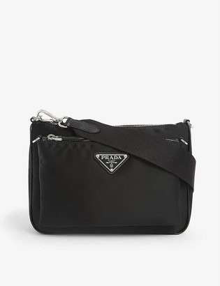 Prada Branded nylon cross-body bag
