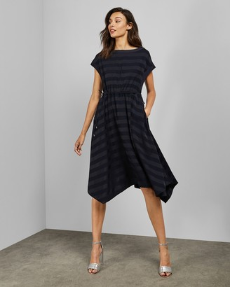 Ted Baker Hanky Hem Striped Dress