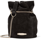 Lanvin Aumoniere Mini Suede Bucket Bag - Black
