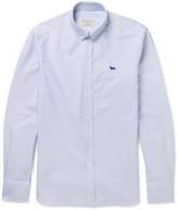 MAISON KITSUNÉ Button-Down Collar Striped Cotton Oxford Shirt