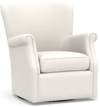 Pottery Barn Minna Upholstered Swivel Armchair