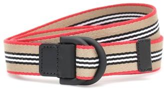 BURBERRY KIDS Double D-ring belt