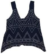 Parker Navy & White Beaded Tribal Print Tank