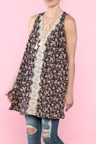 POL Floral Split Back Tunic