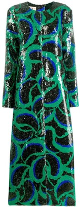 Marni sequined cornucopia pattern dress