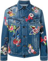 Saint Laurent embroidered denim jacket - men - Cotton/Polyester - S