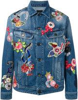 Saint Laurent embroidered denim jacket