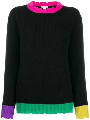 Avant Toi Colour Block Sweater