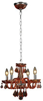 Worldwide Lighting Clarion 4-Light Crystal Chandelier Crystal