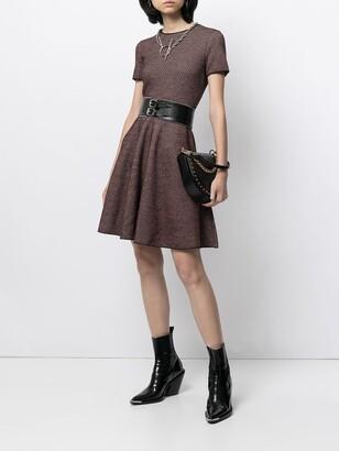 Pre-Owned Short-Sleeved Flared Dress