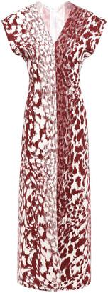 Victoria Beckham Leopard-print Stretch-cady Midi Dress