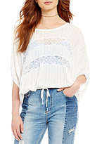 Free People I'm Your Baby Lace Inset Top