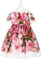 Dolce & Gabbana peony and rose print dress - kids - Polyamide-8 - 12 yrs