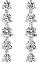 Memoire Linear Round Diamond Drop Earrings