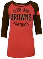 5th & Ocean Women's Cleveland Browns Rayon Raglan T-Shirt