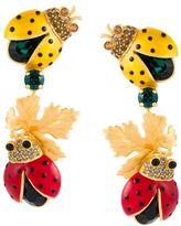 Dolce & Gabbana ladybird clip-on earrings