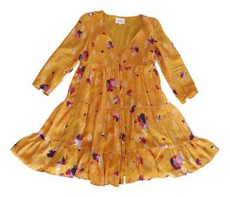 Sezane Spring Summer 2019 Yellow Silk Dresses