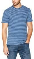 Fat Face Men's Jacquard Indigo Stripe T-Shirt