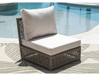 Panama Jack Maldives Armless Patio Chair with Sunbrella Cushions Outdoor Cushion Color: Glacier