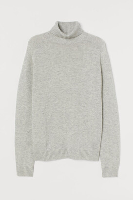 H&M Fine-knit polo-neck jumper