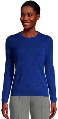 Lands' End Women's Crewneck Cashmere Sweater