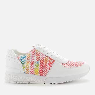 MICHAEL Michael Kors Women's Allie Wrap Running Style Trainers - Bright White Multi