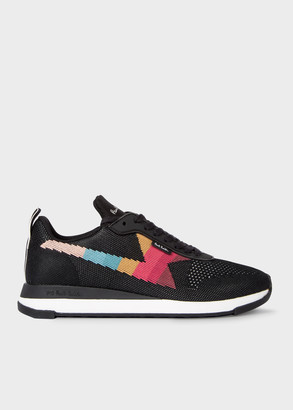 Women's Black 'Rocket' Recycled Knit Trainers