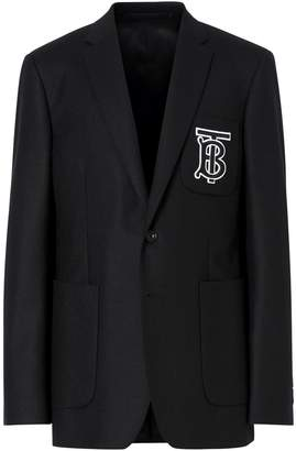 Burberry Wool Monogram Pocket Blazer