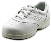 Propet Vista Walker W Round Toe Leather Sneakers.