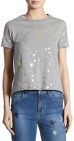 RED Valentino Metallic Star-Print Tee
