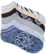 Kelly & Katie Women's Bandana No Show Socks - 6 Pack -Multicolor